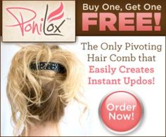 Ponilox Pivoting Hair Comb - perfect ponytail as seen on tv