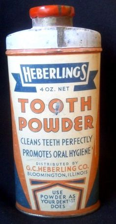 Antique Dental Tooth Powder Tin Heberlings Deco Colors Health Beauty Drug Store | eBay