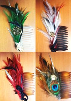 Feather Hair Clips, this is fun :)