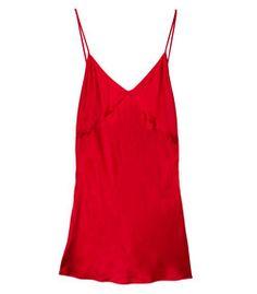 2f596c85aa4c86 Fleur Du Mal Red Satin Bias Slip Silk Romper