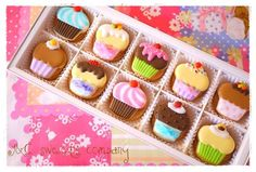 Adorable! Mini cupcake cookies