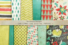 Christmas Eve Digital Papers by 7th Avenue Designs on @creativemarket