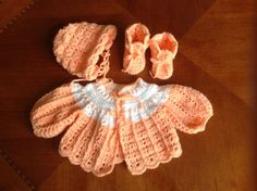 3piece Layette                              by SilverFoxxTreasures, $25.00