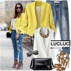 Yellow blazer - LUCLUC 11