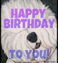 Birthday Love, Birthday Wishes, Birthday Board, Chien Bobtail, Old English Sheepdog Puppy, Bearded Collie, Perler Patterns, I Love Dogs, Animals And Pets