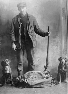 This was my Grandfather, John Wesley Robinson. Born on the 4th of July, 1881, in Nashville, Illinois. He was a Stone Mason by trade, but after his wife died at a very young age in 1906, he worked when it suited him. He was a hunter & trapper & a very hard drinker. He died at the age of 75 and is buried in a very small cemetery, in the woods of Livingston County Illinois. He said he wanted to be buried where the coons could run over his grave. R.I.P. Grandpa..