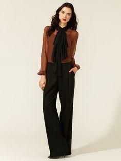 love the Katherine Hepburn feel  Pleated Wide Leg Pant by Robert Rodriguez