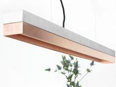 Lampada a sospensione a LED a luce diretta in cemento [C1] COPPER by GANTlights