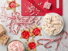 10 Ways to Use Your Surplus of Candy Canes : Candy canes are a sweet, minty emblem of the holiday season, and anything made with them just feels a little more festive. Here are our top 10 ways to put them to good use. From Food Network Kitchen Holiday Snacks, Holiday Recipes, Christmas Recipes, Christmas Foods, Christmas Traditions, Holiday Fun, Christmas Ideas, Food Network Recipes, Food Processor Recipes