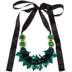 MARNI necklace (1,210 ILS) ❤ liked on Polyvore featuring jewelry, necklaces, accessories, neckless, green necklaces, marni jewelry, green gemstone necklace, marni and gemstone jewelry