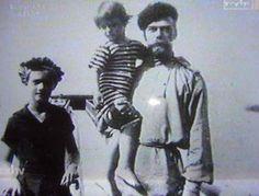 Proud Father. Tsar Nicholas II with Tsarevich Alexei and Grand Duchess Tatiana.
