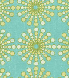 POSSIBLE CURTAINS ... Home Decor 8''x 8'' Fabric Swatch-Waverly Circular Motion/Turquoise at Joann.com