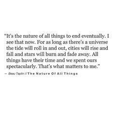 The Nature of All Things // Beau Taplin