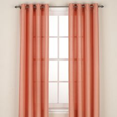 Regal Home Collections Avery Grommet Window Curtain Panel Coral