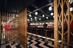 joseph barakat architect's art deco lobby for teatro verdun in beirut, lebanon