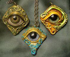 Sculpted Eye ball Pendants by mystapring, via Flickr