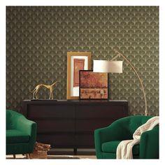 Modern Heritage Anniversary Scalloped Pearls L x W Wallpaper Roll Pearl Wallpaper, Art Deco Wallpaper, Metallic Wallpaper, Wallpaper Roll, Art Deco Period, Your Space, Decorative Pillows, Pearls, Interior Design