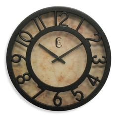 Cut-Out Numeral Clock in Brown - BedBathandBeyond.com