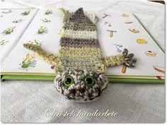 Christels handarbete: Stegocefal bokmärke Crochet bookmark