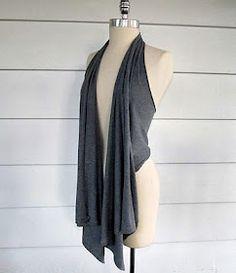 No sew tshirt vest