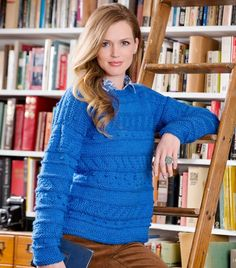 Sapphire Knit Pullover | AllFreeKnitting.com