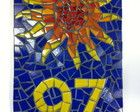 Número para Casa em mosaico Sol