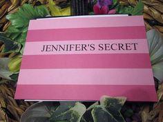 Victorian style pocket bridal shower/birthday invitation handmade  wedding Secret Surprise