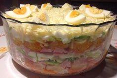 24 - Stunden - Schichtsalat mit Ananas und Mandarinen