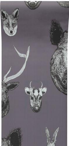 Vestige Wallpaper Grey