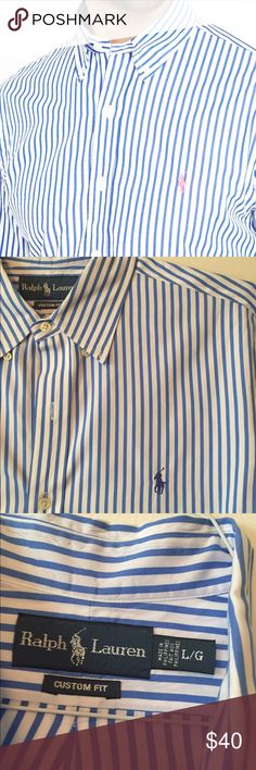 Ralph Lauren Custom Fit Button Down For the dapper fellas... A like new, Custom Fit Ralph Lauren piece. Can be machine washed AND tumble dried! Please note: different logo color than covershot. Polo by Ralph Lauren Shirts Casual Button Down Shirts