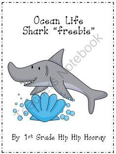 """Ocean+Life...Shark+""""freebie""""+from+First+Grade+Hip+Hip+Hooray+on+TeachersNotebook.com+-++(10+pages)+"""