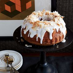 Coconut Chiffon Bundt Cake with Coconut Frosting  - Delish.com