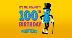 You could WIN the ultimate once-in-a-lifetime opportunity: Enter for a chance to celebrate with Mr. Peanut at a birthday party. Ends 9/15/2016.