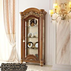 Display Cabinet, Jepara, Decor, Furniture, Home, Living Room Display Cabinet, Room Display, Home Decor, Room