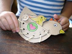 Make a Hen Lacing Toy