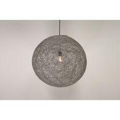 Hanglamp grijs bol touw ROPE I | middel Ø 45 cm