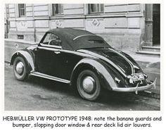 1948 VOLKSWAGEN ROADSTER PROTOTYPE - by Karosseriewerke Joseph Hebmüller Söhne of Wuppertal, Germany. (Type 1. Model 14A)