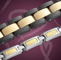 Tungsten Magnetic Bracelet Close Up