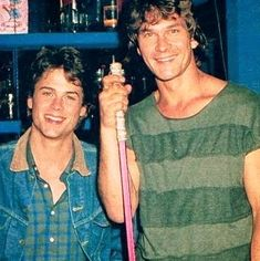 """Movie Scenes & Stills on Instagram: """"Rob Lowe and Patrick Swayze on the set of Youngblood back in 1986 I believe. .. .. .. .. .. #patrickswayze #roblowe #youngblood #hockey…"""" Patrick Swayze, Patrick Dempsey, Classic Tv, Classic Movies, 70s Sitcoms, Baby Icon, Rob Lowe, Young Blood"""