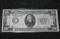 1934 Series B Federal Reserve Philadelphia Bank Note by pasttimejewelry, $65.00