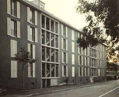 Miroslav Šik, Musicians residence in Zürich, 1998 Architecture Arc, Contemporary Architecture, Miroslav Sik, Building Facade, Multi Story Building, Exterior, Outdoor Structures, Modern, Musicians