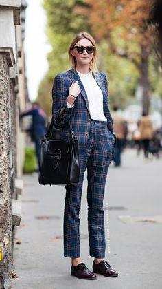 Preppy street style #plaid #oxfords #fashion #fallfashion #style