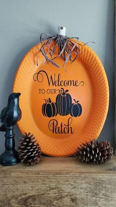 Autumn Crafts, Thanksgiving Crafts, Holiday Crafts, Dollar Tree Fall, Dollar Tree Crafts, Fall Halloween, Halloween Crafts, Diy Halloween Decorations, Fall Decorations