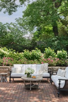 Image may contain Furniture Table Outdoors Couch Yard Nature Coffee Table Patio and Rug Outdoor Sofa, Outdoor Spaces, Outdoor Living, Outdoor Furniture Sets, Outdoor Decor, San Bernardo, Taylor Hill, House On A Hill, Architectural Digest
