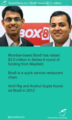 In May, 2015 @BOX8 has raised $3.5M from Mayfield.
