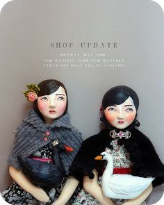 art dolls, du buh du designs by Christine Alvarado