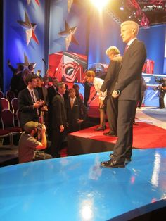 Read NO HOPE to find out what was said during this conversation back in 2011. (GOProud's Chris Barron chats with Michele Bachmann while Jimmy LaSalvia looks on. Also pictured - Marcus Bachmann, Anderson Cooper)