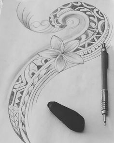 Polynesian Tattoos Women, Leg Tattoos Women, Polynesian Tribal, Polynesian Designs, Tribal Tattoos, Cool Tattoos, Tatoos, Camera Sketches, Hawaii Tattoos
