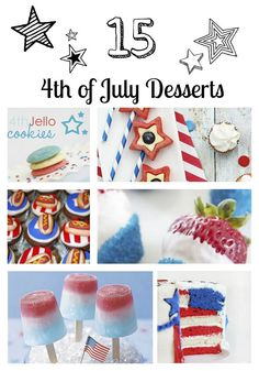 15 Fourth of July Desserts ...yum!