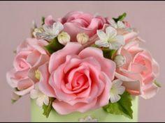 Gumpaste Rose Part V - YouTube